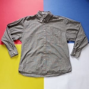 Vintage Christian Dior Fancy Checkered Button-Up S